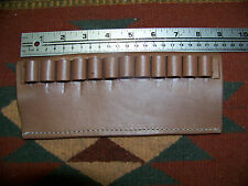 44 Mag & 45 Colt Ammo Bullet Cartridge Belt Slide Brown Leather Holder