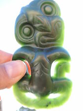 Nephrite Maori Greenstone Pounamu QUALITY BIG Jade Hei TIKI Top Carver NeilBROWN