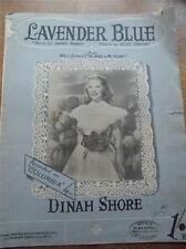 VINTAGE 1952 PIANOFORTE spartiti parole LAVENDER BLUE WALT DISNEY Tanto caro al mio cuore