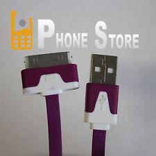 iPhone 3GS USB Kabel Ladekabel Nudel Ladegerät Datenkabel Verbindung 1m Lila