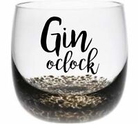 6 x Gin O'Clock Vinyl Decal Wine Tumbler Drinking Glass stickers