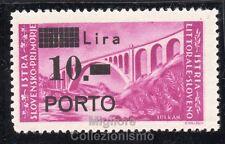 MC 1946 Istria e Litorale Sloveno 10l su 30 l MNH**