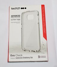 GENUINE Tech21 ULTRA THIN Evo Check Case for Samsung Galaxy  S6 -Clear/White-NEW