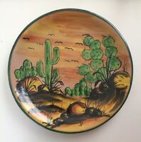 "Talavera - Castillo - H Mexico Ceramic Hand Painted 12"" Serving Platter or Plate"