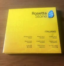 Rosetta Stone Italian Discs Level 1,2 & 3 and Application Discs only Italy