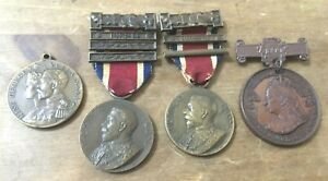 QUEEN VICTORIA/ GEORGE V & MARY COMMEMERATIVE MEDALS