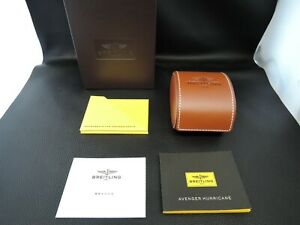 BREITLING WATCH BOX CASE  COSMETIC BOX BOOKLET BROWN 100%AUTHENTIC CD3555