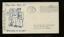 "US WWII Patriotic Cover Feb 26, 1945 ""They Give Their All, How much Do You Give?"
