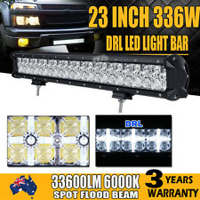 """23INCH 576W Philips LED WORK LIGHT BAR DRL SPOT FLOOD COMBO OFFROAD TRUCK 20"""""""