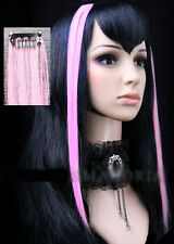 Extension cheveux à clipper clips paire gothique cyber punk lolita fashion Rose