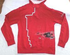 "Official Ferrari Gear red 1/4"" zip hooded sweatshirt men sz M Jordan XIV Formula"