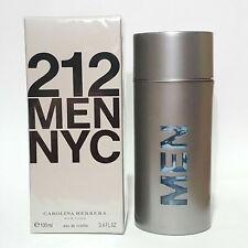 212 MEN NYC by Carolina Herrera EDT Cologne 3.4oz / 100mL SEALED NEW
