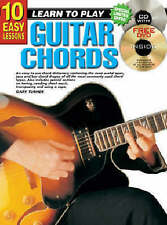 10 Easy Lessons Learn TO Play Guitar Chords Bk/CD - Same Day P+P