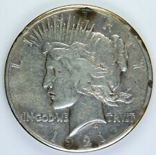 1921  $1 HIGH RELIEF PEACE SILVER DOLLAR  *D2026