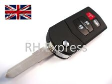 replace 4 button flip key case for Mazda 3 5 6 MX-5 RX8 remote key fob /logo A68