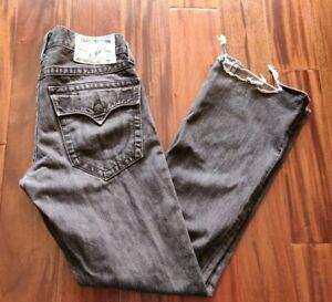True Religion Boot Cut Black Jeans Men's 31 Waist 33 Inseam