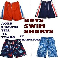 Boys Swimming Shorts Ex Chainstore ages 3 Months Till 16 Years