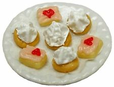 Valentines's Petit Fours Plate Dollhouse Miniature - Bright Delights #K011