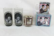 Huge Vintage Laurel and Hardy Collectable Lot Glass Coffee Mug Set Rare Zorro