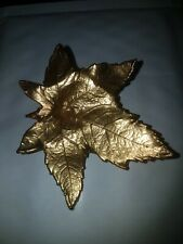 Leaf Brooch Large Gold Tone