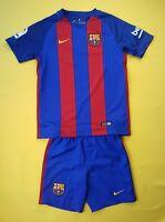 Barcelona kids jersey + shorts Young M 2016 2017 home shirt Nike soccer ig93