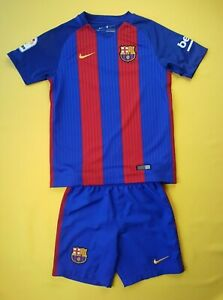 Barcelona kids jersey + shorts Young M 2016 2017 home shirt Nike soccer ig93