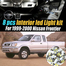 8Pc Super White Car Interior LED Light Kit Package for 1999-2000 Nissan Frontier