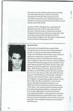NEW YORK POPS Playbill DARREN CRISS (GLEE, Gianni Versace) Betsy Wolfe