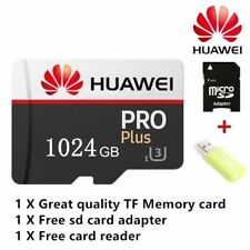 HUAWEI 1024 GB (1TB) Micro SD card With Adapter & USB Card Reader New USA Seller