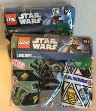 New Lego Star Wars Boys Briefs 2 packages of 3-pack Size 4 Underwear Darth Vader