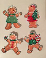 Gingerbread Kids - Iron On Fabric Appliques - Christmas Crafts