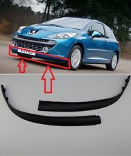 NEW PEUGEOT 207 2006 - 2009 PAIR FRONT BUMPER SPOILER SPLITTER TRIM SET 7414YT