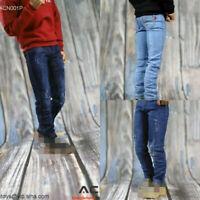ACNTOYS 1/6 Scale Male Denim Pants Hole Jeans Clothes Model Fit 12'' Figure Body