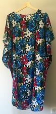 NEW Cotton Women's Blue Kaftan Caftan Boho Top Dress Loose Batwing Large size