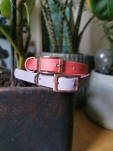 Biothane Rose Gold Waterproof Dog Collar - ALL sizes - adjustable / Handmade