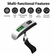Digital Luggage Scale Electronic LCD Hanging Portable Travel 50 KG/110lbs New