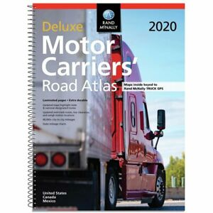 NEW Rand McNally 2020 Deluxe Motor Carriers' Road Atlas Spiral-bound Free Ship!