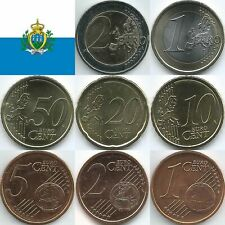San Marino Euromünzen von 2002 bis 2020, unzirkuliert/bankfrisch
