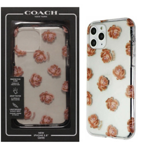 Coach Case Dreamy Peony Clear Glitter iPhone 11 Pro Rose Gold Floral Flowers NEW