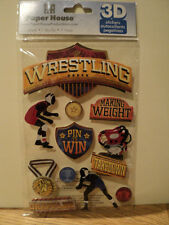 PAPER HOUSE WRESTLING 3D STICKERS BNIP *NEW*