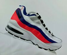 Big Kid's Nike Air Max 95 GS Shoes White Black Solar Red Size 905348 103