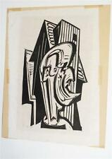 Fritz Marutzky, Holzschnitt , BG 47x36 cm , signiert, (13-fm24)