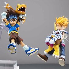 Digimon Adventure Yagami Taichi & Agumon+Yamato Ishida & Gabumon Figure No Box