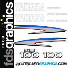 Yamaha 100hp four stroke outboard engine decals/sticker kit