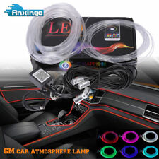 6M Rgb Led Car Interior Neon El Strip Light Sound Active Bluetooth Phone Control (Fits: Hyundai Accent)