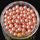 New 144pcs 8mm Round Czech Glass Pearl Loose Spacer Beads Aqua Red