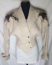 Vtg Rare IIF Stylish Jacket Gold Accents Studded Embellished S Jeweled Bronze