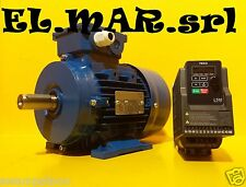 Motore Elettrico HP 1 Kw 0,75 + Inverter Monofase TECO L510 Giri Regolabili