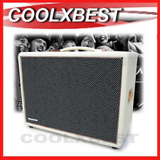 RETRO JOY STREET WHITE ACTIVE BLUETOOTH PARTY SPEAKER 100W AUX GUITAR INPUT RFB