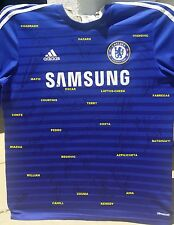 CHELSEA SIGNED AUTOGRAPH SHIRT SOCCER JERSEY PROOF HAZARD+COSTA+TERRY+CESC+CONTE